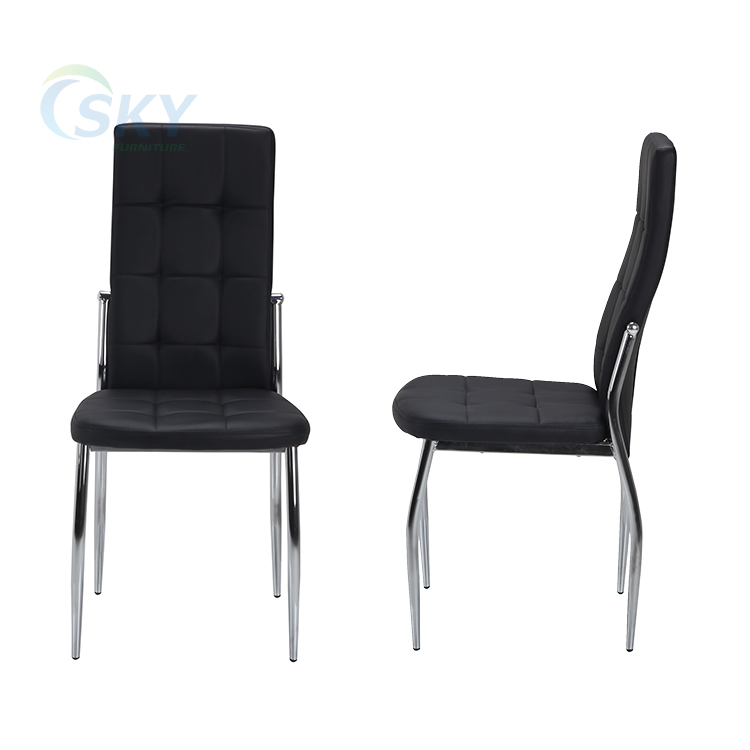 DC35 simple black dining chair