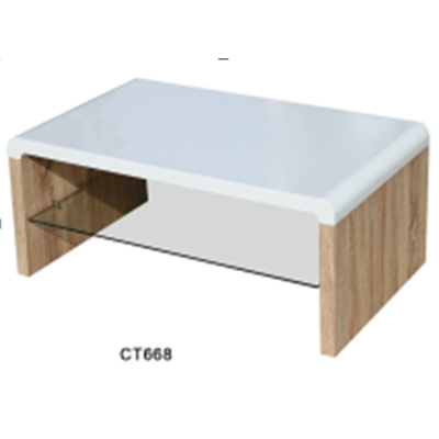 CT668 white high gloss MDF Coffee Table