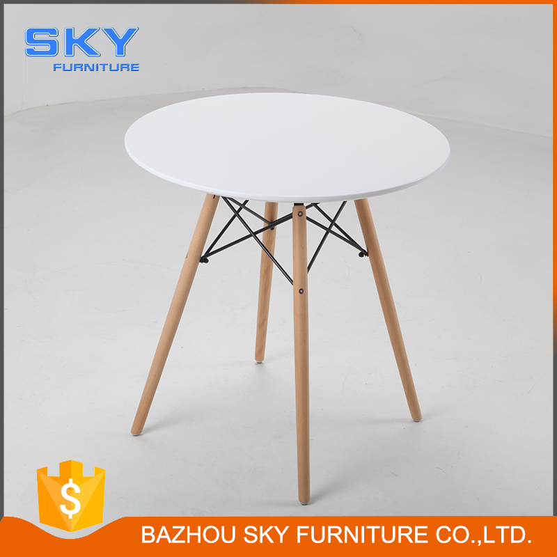DT9007 wooden round dining table