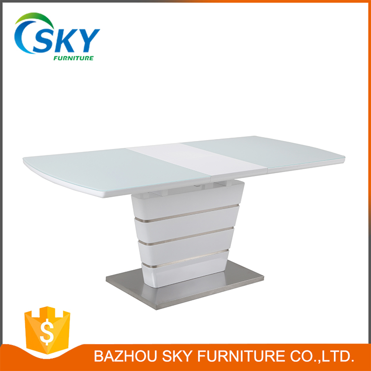 DT0704 white gloss MDF dining table